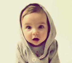 I love this hoody on this cute baby