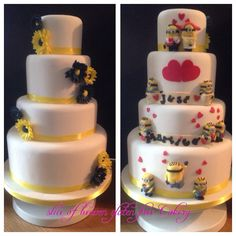 Minion wedding couple   by Zoe s Fancy Cakes   CakesDecor com   cake     Minion wedding couple   by Zoe s Fancy Cakes   CakesDecor com   cake  decorating website   Future wedding   Pinterest   Wedding couples  Fancy  cakes and Cake