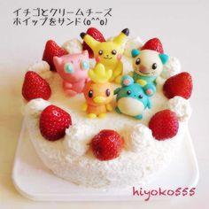 Pokemon strawberry cake