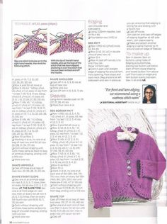 Lets Knit 63 2013 02 Handknitted for baby Crochet Bolero Pattern, Baby Cardigan Knitting Pattern Free, Kids Knitting Patterns, Knitted Baby Cardigan, Knit Baby Sweaters, Knitting For Kids, Free Knitting, Baby Knits, Crochet Shrugs