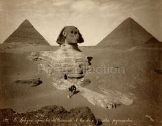 The Sphynx After the Clearings and the Two Pyramids