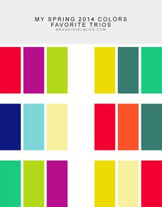 My Spring 2014 Color Combos | Brandi Girl Blog