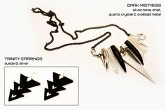 LADY ALCHEMY - COLLECTIONS - Designer Hand Made Jewellery - Galactika - Our Collection Quartz Crystal, Designer, Bones, Arrow Necklace, Shells, Jewelry Making, Crystals, Lady, Metal