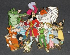 Pin 33848 Disney Auctions - Peter Pan Cast (Jumbo) Picture Credit to deweythecat from Ebay.