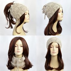 Ponytail Hat Scarf Ponytail Beanie Transformer Hat Hat with