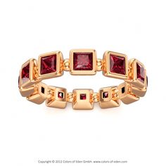 Rose Gold Ruby Ring Cycle