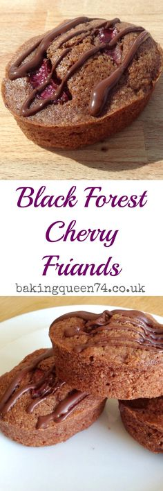 8 GF or not Black Forest Cherry Friends - delicious mini chocolate almond cakes with cherry, lovely for afternoon tea! Chocolate Almond Cake, Almond Cakes, Chocolate Flavors, Artisan Chocolate, Chocolate Cakes, French Desserts, Mini Desserts, Delicious Desserts, French Sweets