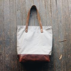Leather and canvas tote bag Loyal Stricklin