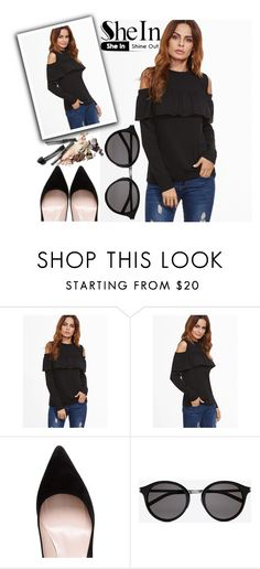 """""""◇BLACK IS THE NEW BLACK◇"""" by tamarasimic ❤ liked on Polyvore featuring Kate Spade, Yves Saint Laurent and shein"""