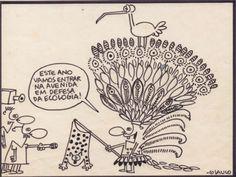 """A inédita exposição """"Abobrinhas da Brasilônia"""", com o trabalho do cartunista Glauco Vilas Boas (1957-2010), fica em cartaz na Caixa Cultural da Sé do dia 5 de maio a 30 de junho."""