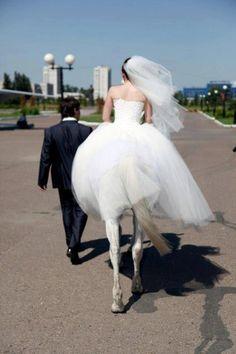 Fotografia creativa. La novia caballo.