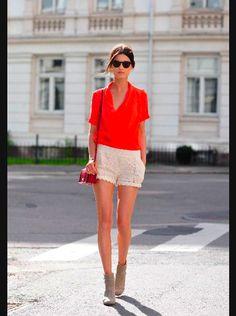 feminine lace short
