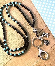 Turquoise Beads, Turquoise Stone, Beaded Lanyards, Beaded Necklace, Stones, Butterfly, Charmed, Friends, Silver