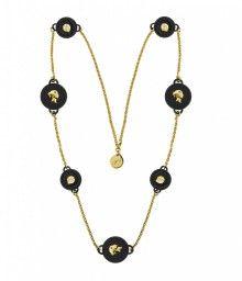 Ops! Objects náhrdelník Trésor černý - 1118 Kč Gold Necklace, Pendant Necklace, Swarovski, Objects, Jewelry, Gold Pendant Necklace, Jewlery, Jewerly, Schmuck