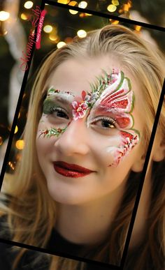 Seven Outrageous Ideas For Your Face Paint Amsterdam Face Painting Designs, Love Painting, Painting For Kids, Tinta Facial, Christmas Face Painting, Face Paint Makeup, Face Design, Pretty Eyes, Costume Makeup