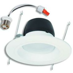 Halo 5 and 6 in. Recessed Matte White LED Retrofit Baffle and Trim Ring-RL560WH-R at The Home Depot $40