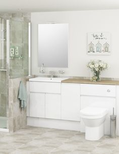 The Bright Gloss Finish Will Reflect Light Into E For A Refreshing Look White Bathroom Furniture Is Most Por Style