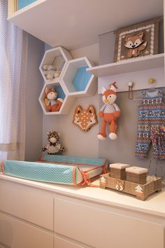 Sheron Menezzes shows the decoration of the son& bedroom:separator: Baby Bedroom, Baby Boy Rooms, Baby Room Decor, Kids Bedroom, Nursery Decor, Diy Bebe, Baby Room Design, Girl Room, Child's Room