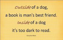 on books and dogs