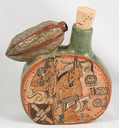 Mexican Ceramic Vessel Museum Quality Handmade/Painted Mayan Reproduction Mexico - Wandering Gypsy