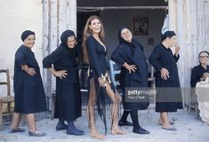 American actress and sex symbol Raquel Welch poses with local Greek women during a break in filming The Beloved in Cyprus . Get premium, high resolution news photos at Getty Images Raquel Welch, Illinois, Cyprus Island, Terry O Neill, Chicago, Local Girls, My Heritage, Great Photos, Rare Photos