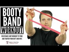 At Home Resistance Band Loop Glute Workout - YouTube