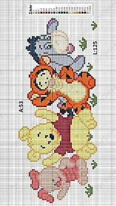 39 Trendy Ideas Embroidery Patterns Disney Winnie The Pooh 39 Disney Disney Winnie the Pooh Embroidery Ideas Cute Cross Stitch, Beaded Cross Stitch, Modern Cross Stitch, Cross Stitch Charts, Cross Stitch Embroidery, Embroidery Patterns, Beading Patterns, Crochet Patterns, Pooh Baby