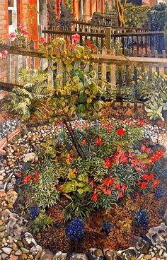 Cookham Rise Cottages by Stanley Spencer on Curiator, the world's biggest collaborative art collection. Stanley Spencer, Garden Painting, Garden Art, English Artists, British Artists, Landscape Paintings, Landscapes, Landscape Art, Illustration Art