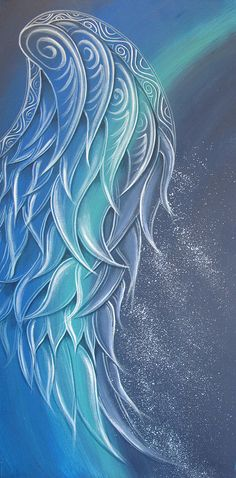 Angel Wing Painting by Reina Cottier... LOVE!