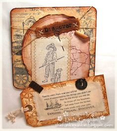 Makes me want to sing songs from Big River - cool Twain inspired Huck Finn paper crafts