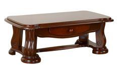 Royal négyszögletes diófa asztal felülettel
