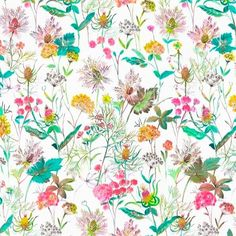 Primavera Multi | Springtime Multi  100 % Cotton  140 cm | 280cm Stuart Graham, Silver Mist, Conversational Prints, Tropical Forest, Little Monsters, Color Trends, Hibiscus, Spring Time, Decorative Accessories