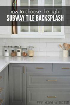 Installing A Subway Tile Backsplash In Our Kitchen