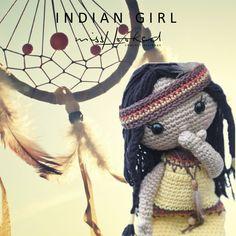 Indian girl - haakpatroon indiaantje - indiaan - haken - meisje - pop - amigurumi - MrsHooked