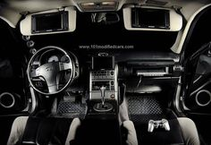 Modified Infiniti G35 2 Door Coupe 3rd Generation Interior Dashboard Dvd Monitor Steering Wheel Door Component Speaker Infiniti Coupe Custom Body Kits