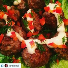 """#socialmediacontest winner  @jenniehall making #meatballs out of our #duck #burgers! With a lemon tahini dressing to boot!! #TryTheDuck #FamilyOwnedandOperated #SustainableFarming #HumaneHandling #KingColeDucks #Meat #FarmtoFork #NoseToTail #WholeAnimalPhilosophy #Sustainable #Green #FarmToTable #FarmFresh #Food #Local #EatLocal #EatMoreDuck #Healthy #Foodie #FoodPorn #Instafood #Foodgasm #TorontoFood #TheSix"" @kingcoleducks"