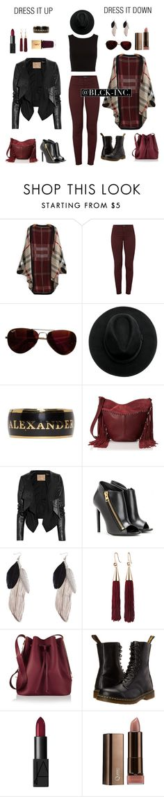 """""""Dress it up/down"""" by blck-inc ❤ liked on Polyvore featuring J Brand, Ray-Ban, Alexander McQueen, Steve Madden, Max Azria, Tom Ford, Eddie Borgo, Sophie Hulme, Dr. Martens and NARS Cosmetics"""