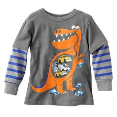 Jumping Beans Dinosaur Mock-Layer Tee - Toddler