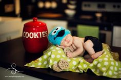 Cookie Monster Photo by Starla Photography http://www.starlaphotography.com/    Handmade props by My Simply Sweet Little Boutique www.facebook.com/MSSLB