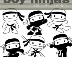 Ninja Clipart Set  persönliche und begrenzte