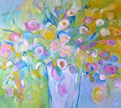 Scent of Spring - Original Abstract Painting by Texas Contemporary Artist Filomena de Andrade Booth, painting by artist Filomena Booth
