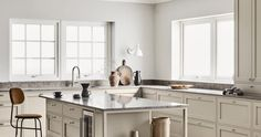 Reflecting the very essence of their brand, Swedish Kitchen Company Nordiska Kök have created the Nordic Kitchen. Inspired by the bright . Swedish Kitchen, Nordic Kitchen, Limestone Countertops, Nordic Lights, Kitchen Chandelier, Bespoke Kitchens, Custom Cabinets, Built In Storage, Open Shelving