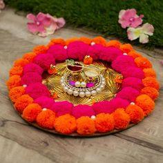 #PomPom #Decorative Tilak Akshat #Pooja #Thali #KarwaChauth  India  #Mypoojabox
