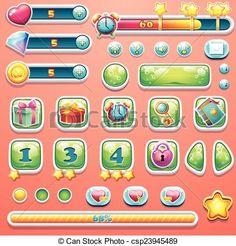 ゲーム ボタン デザイン - Google 検索