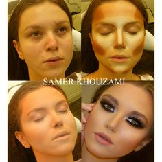 Face Make-up Contouring Before & Afters The Work of Samer A. Khouzam - Make-Up Artist Power Of Makeup, Love Makeup, Makeup Tips, Makeup Looks, Amazing Makeup, Full Makeup, Makeup Lessons, Crazy Makeup, Perfect Makeup