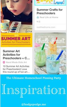 Inspiration at The Ultimate Homeschool Pinning Party