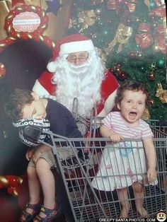 Share your Creepy Santa Claus pictures. Kids are scared of Santa. He can be silly & scary, but most Santas are the most warm hearted people in the world. Share your photos and decide for yourself. Family Christmas Cards, Christmas Past, Father Christmas, Christmas Humor, Vintage Christmas, 1980s Christmas, Christmas Things, Christmas Shopping, Bad Santa