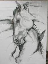 """Beautifully Sensual Charcoal drawing....""""Horse Pair"""" by jazyjen42"""