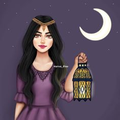 Image discovered by Karen Arroyo. Find images and videos about Ramadan on We Heart It - the app to get lost in what you love. Ramadan Images, Ramadan Cards, Girly M Instagram, Nature Instagram, Muslim Images, Sarra Art, Girl Cartoon Characters, Cartoon Girls, Cute Love Stories