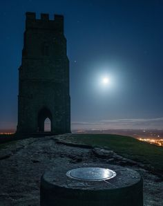 Glastonbury Tor, Mysterious Places, Good Night Moon, Somerset, Tower Bridge, Folklore, Great Britain, Cornwall, Over The Years